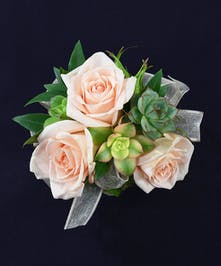 3 Rose + 3 Succulent Rhinestone Wristlet
