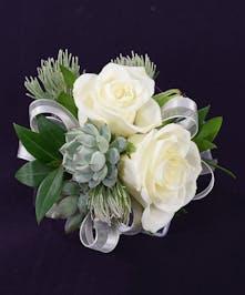 2 Rose + 2 Succulent Rhinestone Wristlet