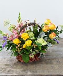 Spring Floral Basket Delivery San Mateo (CA) Ah Sam Florist
