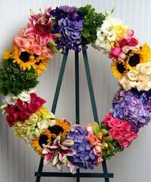 Halo of Memories with Seasonal Flowers
