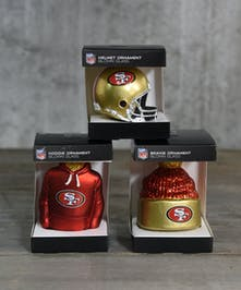 Go Niners!  Add your favorite team to the holiday tree.