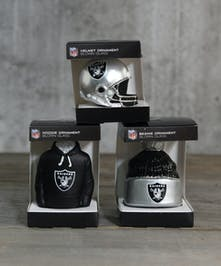 Go Raiders!  Add your favorite team to the holiday tree.