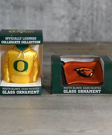 Ducks or Beavers?  Which Oregon school ornament will adorn the tree?  Maybe both.