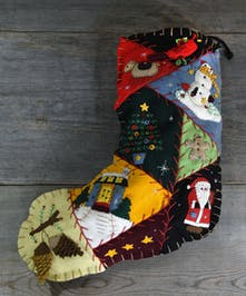 It's a magical season with a felt stocking capturing the spirit of the holiday.