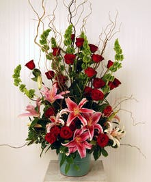 Roses and lilies express your feelings.