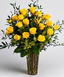 Dozen Luxury Yellow Roses
