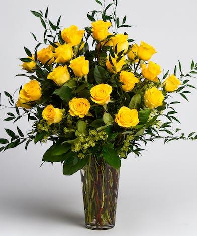 Dozen Luxury Yellow Roses