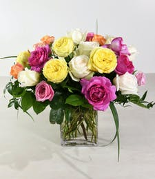 Assorted Garden Roses Bouquet