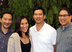 Four members of the Ah Sam ownership team