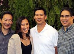 Four members of the Ah Sam ownership team